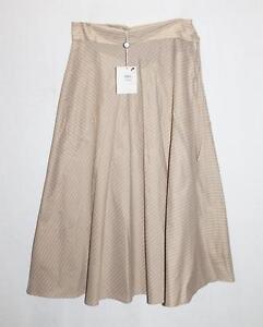 PENNY-BLACK-Designer-Beige-Stripe-Fold-Over-Waist-Skirt-Size-S-BNWT-SP04