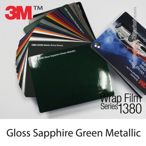 Échantillons Gloss Sapphire Green Metallic 3M 1380 G216 Wrapping Cover Film
