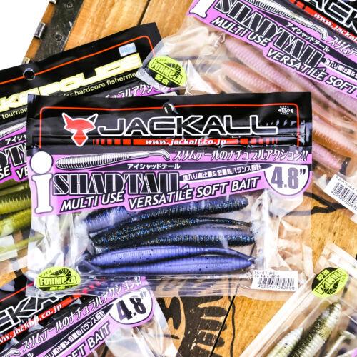 "JACKALL i Shad Tail Soft Plastic Paddle Swimbait Texas Rig Bait 4.8/"" 6ct PICK"