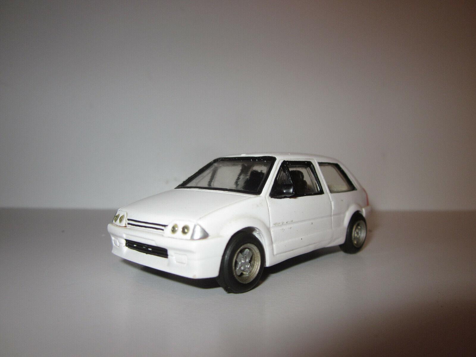 RARE CITROEN AX Sport   GT Weißhe Weiß par DUVI Résine Made in France au 1 43