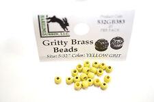 Gritty Brass Beads Ø 3,8mm Hareline 20 St. esibisce OTTONE beads YELLOW Grit
