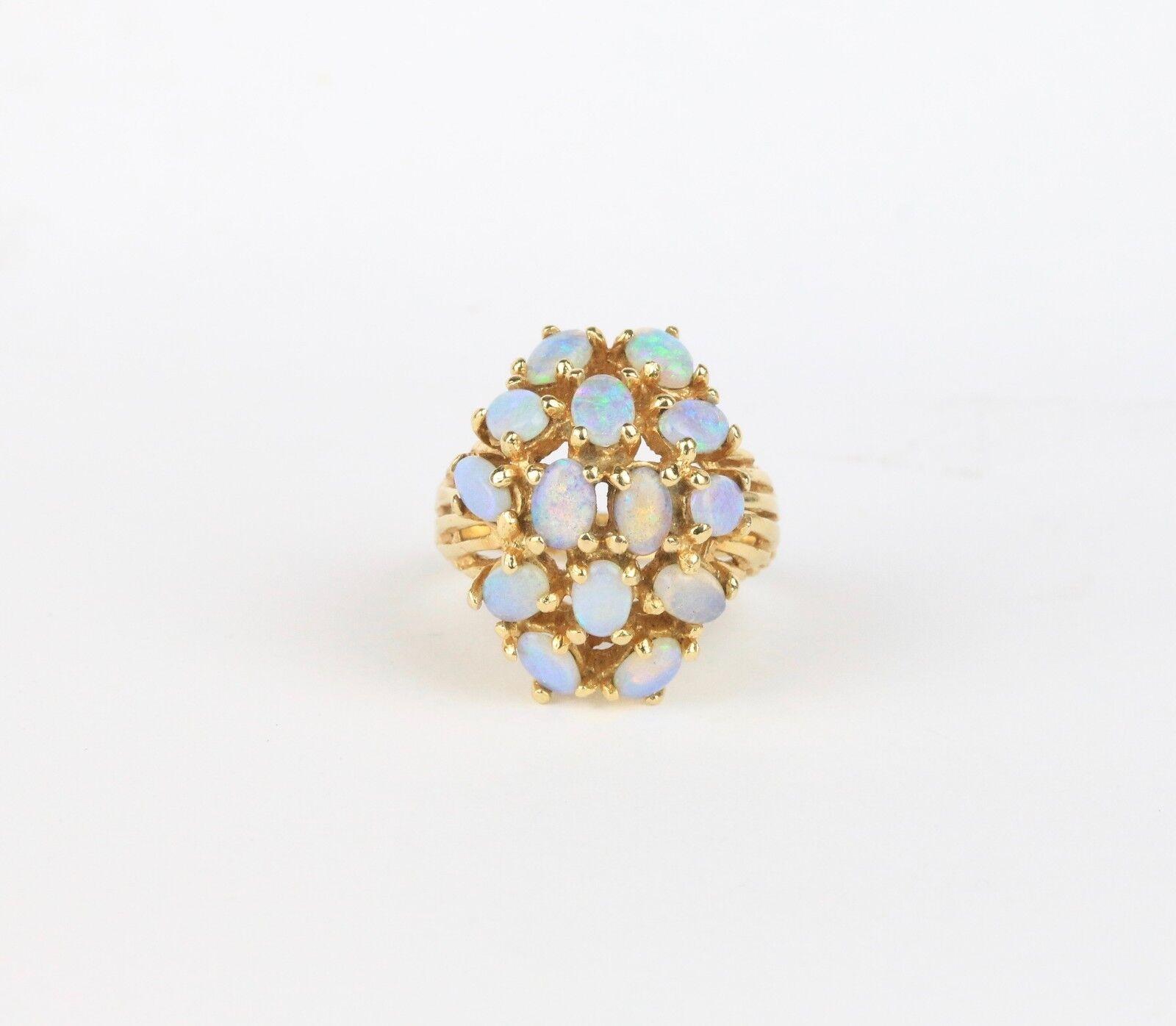 27f3086d7 Estate Opal Cluster 14K Ladies Ring nppapu13-Gemstone - fashion ...
