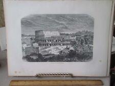 Vintage Print,COLISEUM,Rome,Francis Wey,1872