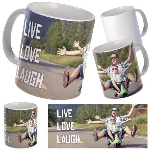 Text auf Weiß Becher oder Farbe Changing Personalisierte Tasse mit Foto Collage
