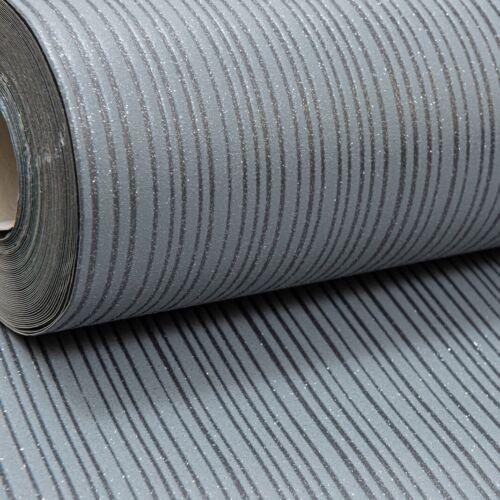 Arthouse Gunmetal Mid Gris Foncé Uni Paillettes Scintillant Rayures Texturé Papier Peint