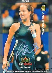 2015 Epoch Ana Ivanovic IPTL Tennis Holo Facsimile Signature #1/1 Super Rare MT