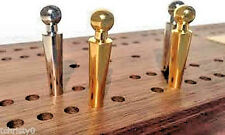 """4- Cribbage Board Pegs """"Regency"""" for the Larger 3/16"""" Holes, Velvet Pouch, USA"""