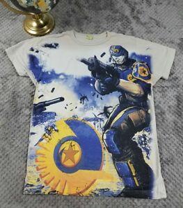 RARE Planetside 2 Gamer T-Shirt Shooter PS4 Xbox Intel Daybreak Sz Small Tee