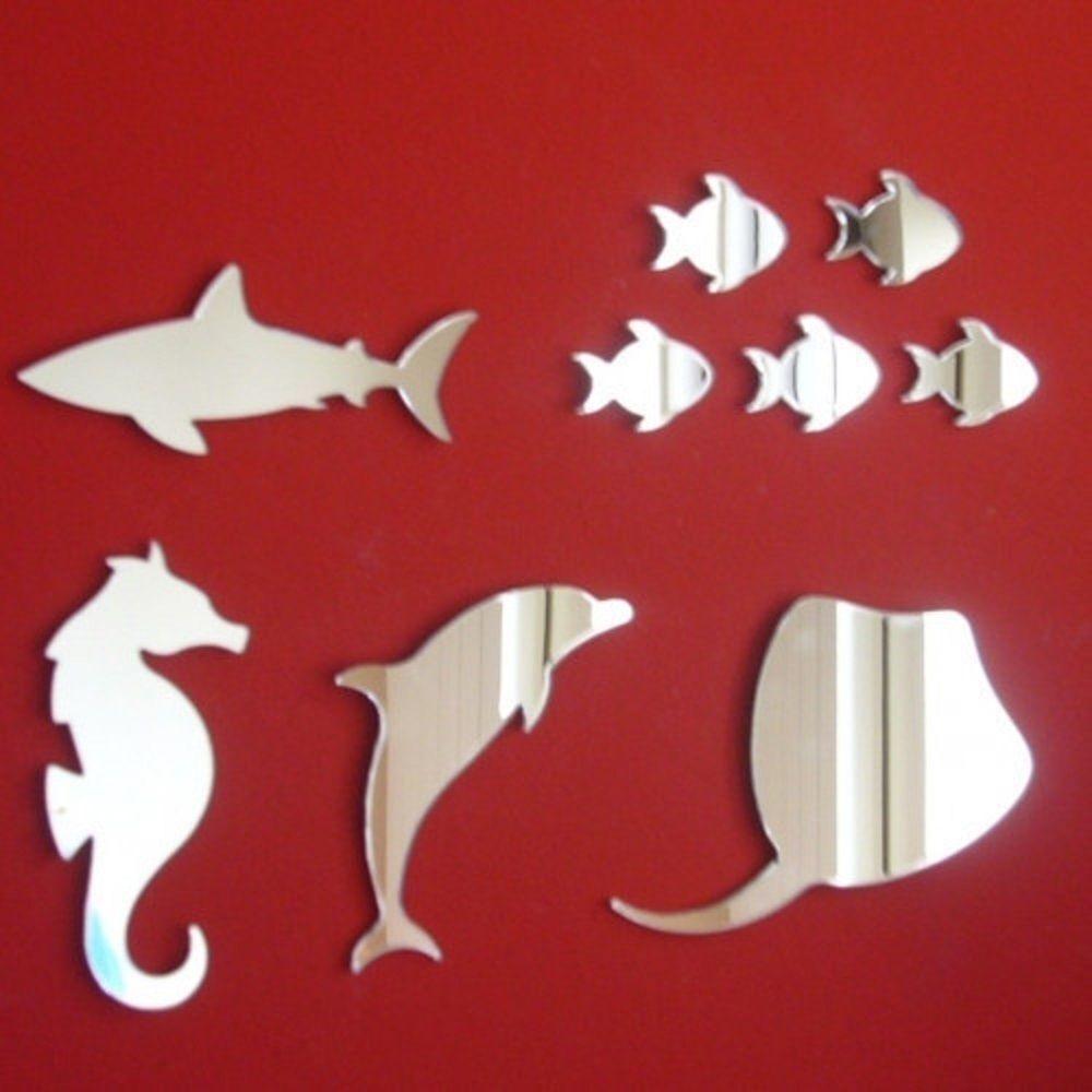 Bundle of Nine Sea Life Acrylic Mirrors