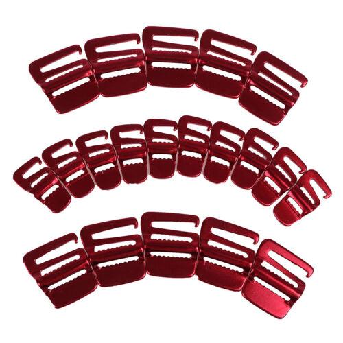 10Pcs Rucksack Schnalle Gepäck Paket Anziehen Schnalle Zelt Seilspanner Haken HV