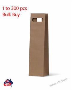 Brown Single Bottle Gift Bags Cut