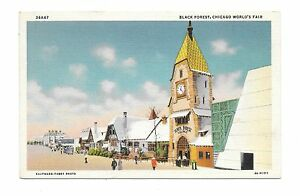 1933-Chicago-World-039-s-Fair-PC-Black-Forest