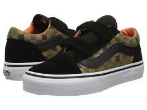 1c469832cce VANS Old Skool V Black green Checkerboard Unisex Skate Shoes Kids  Size  Vn-0xgg 3 for sale online
