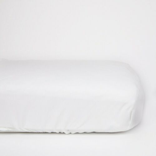 Organic Fitted cot Sheets 60x120cm Organic White Good Bargain Top Quality
