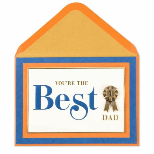 Papyrus Greetings Father/'s Day Card Your The Best # 1 Dad Medal