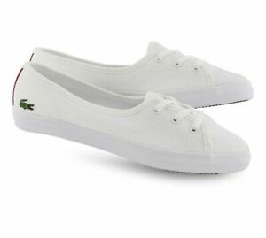 utterly stylish superior quality official Details about Lacoste Ziane Chunky 119 Pink White Canvas Womens Trainers