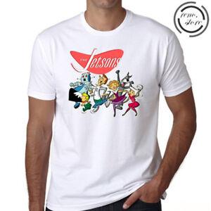 6bd55f85c25 The Jetsons Cartoon Logo Men s White T-Shirt Size S M L XL 2XL 3XL ...