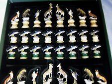 Franklin Mint Sportsman Trophy Chess Set: No Board