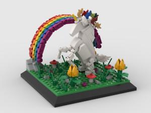 Lego Instructions Unicorn with rainbow