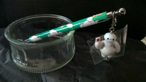 Disney Baymax Big Hero 6 Click Pen with Charm key chain Back to School