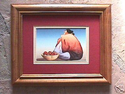 Suzo Framed R C Gorman matted Navajo print framed with glass
