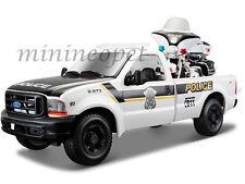 MAISTO 32186 HARLEY DAVIDSON 1999 FORD F-350 1/27 + 1/24 2004 FLHTPI POLICE BIKE