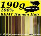 CLIP IN REMY HUMAN HAIR EXTENSIONS Brown Blonde Black