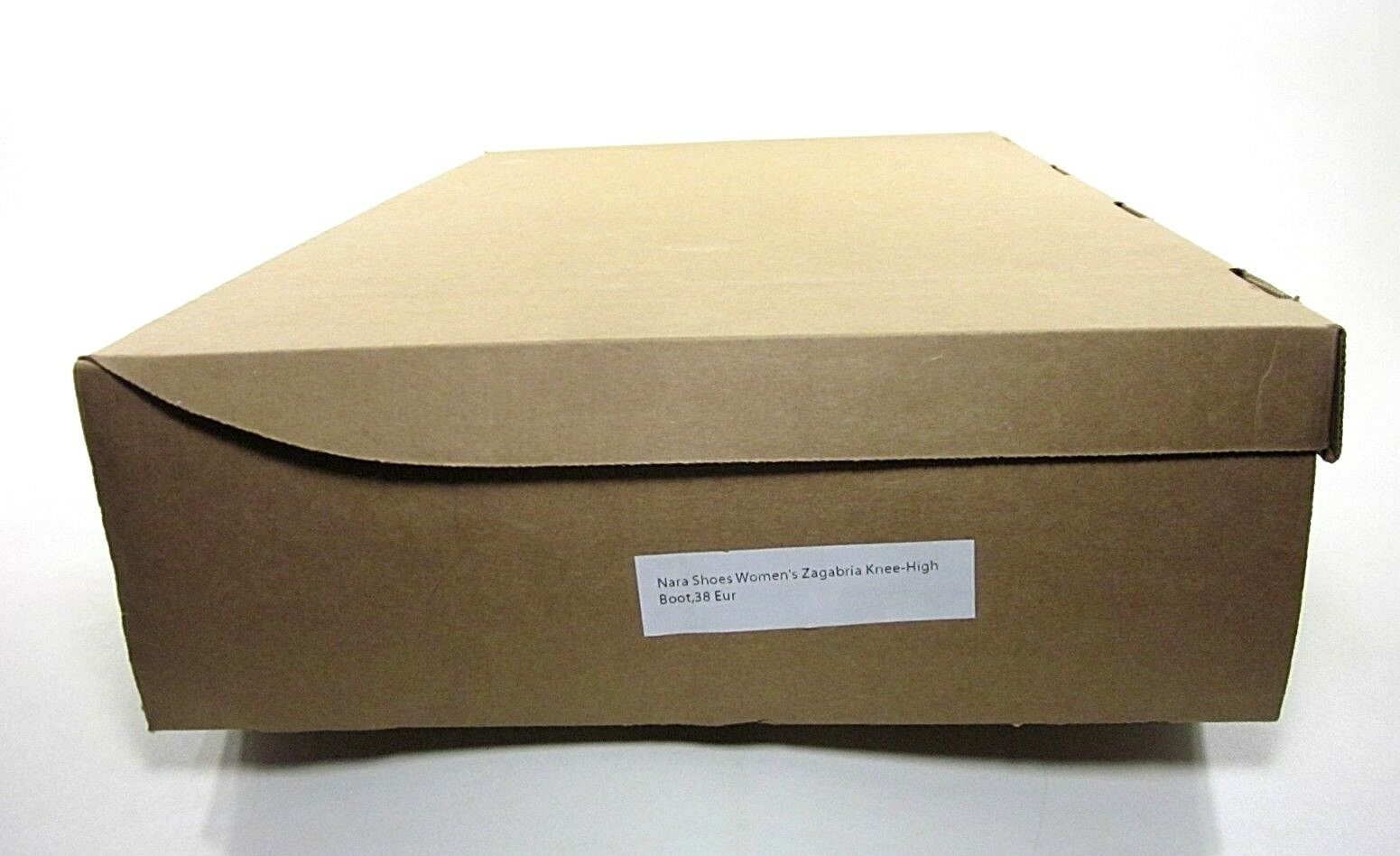 Zapatos de Nara Para Mujer Hasta la Caja Rodilla Alto Bota, Zagabria Caja la de Color caqui, EE. UU. 8 M, Nuevo Exhibido 8d0bcf