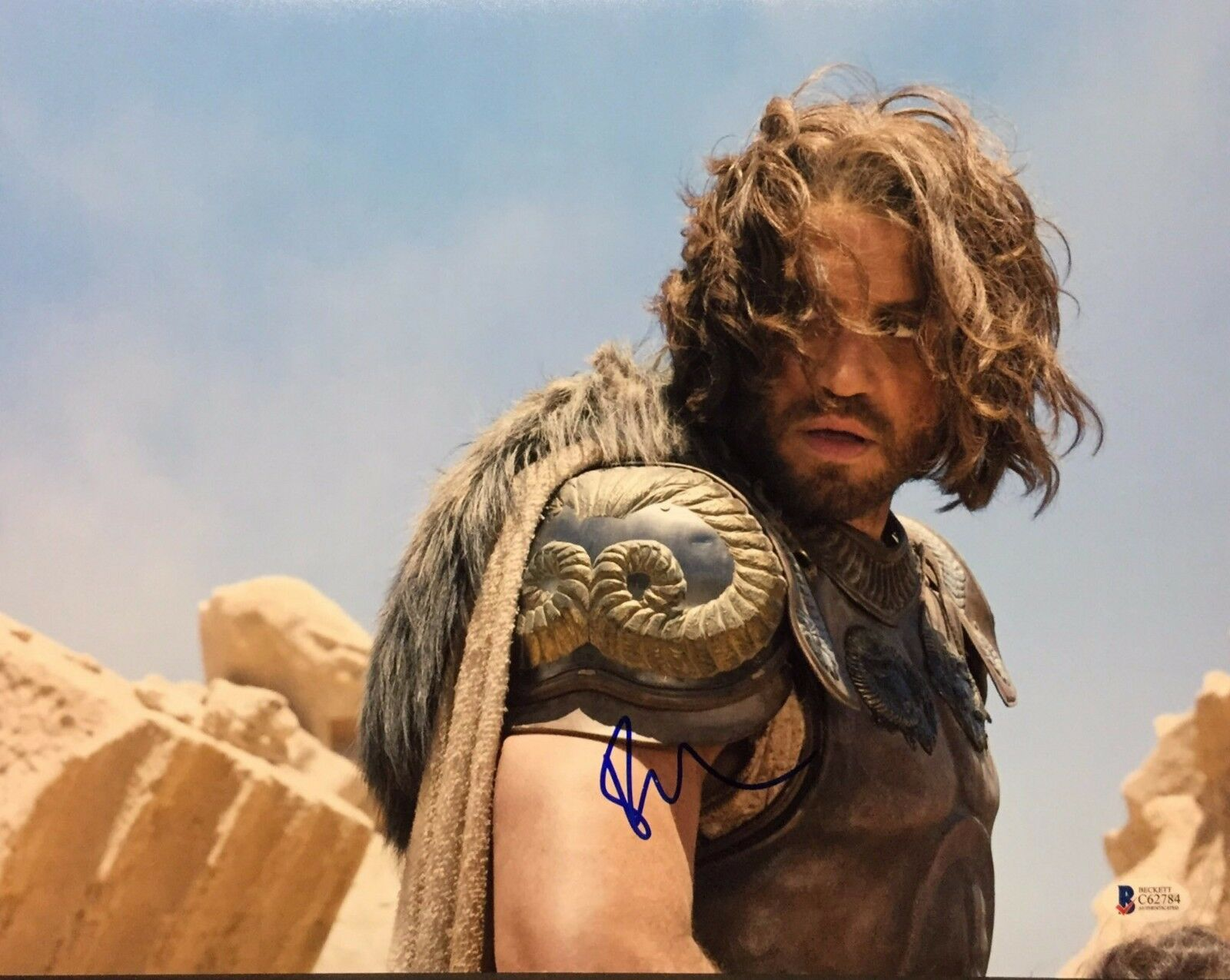 Edgar Ramirez Signed Wrath Of The Titans 11x14 Photo Beckett BAS C62784