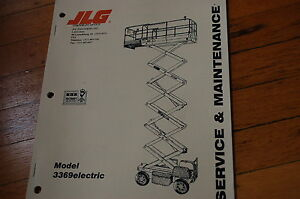 Details about JLG 3369 Electric scissor Lift Owner Service Maintenance  Troubleshooting Manual
