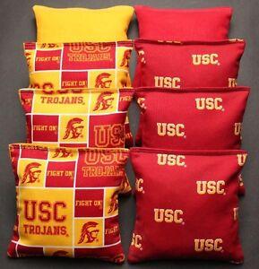 Cornhole Beanbags Made W Usc Trojans Fabric 8 Aca Reg Bags
