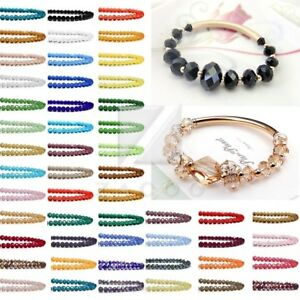 72Pc Crystal Czech Loose Glass Beads Rondelle Faceted Fit Jewelry 10/12mm