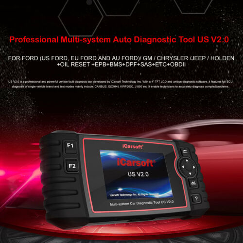 iCarsoft US V2.0 Diagnostic Tool for American Vehicles Multi Systems ABS,SRS,AT