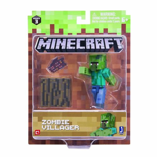 Minecraft 7.6cm Figurines D/'action Entièrement Articulé /& Accessoires Overworld