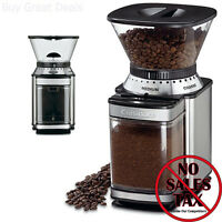 Commercial Electric Grinder Auto Coffee Tea Espresso Burr Mill Bean Grind Home