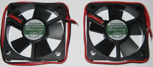 2 X Sunon 50 mm Quiet Cooling KDE Fan - 12 V DC - 7 CFM - 21 dB - KDE1205