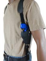 Barsony Black Leather Vertical Shoulder Holster Colt 2 Snub Nose Revolvers