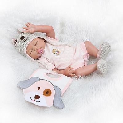 "Full Body Silicone Reborn Baby Doll 19/""  Lifelike Newborn Girl Dolls Kids Gift"