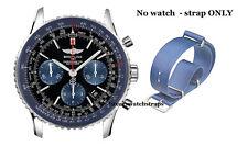 Azul de la OTAN ® Correa Para Breitling Navitimer Superocean Avenger montbrilliant 22mm