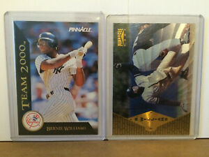 Bernie-Williams-LOT-of-2-NM-insert-parallel-1997-pinnacle-museum-collection-NY