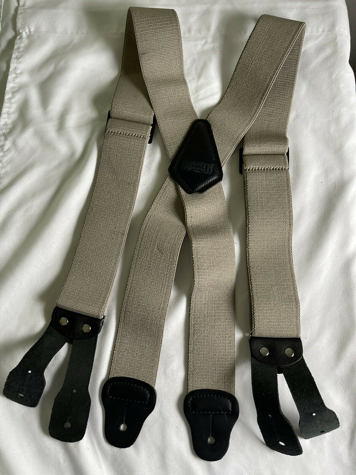 Duluth Trading Company Suspenders Men's Tan Brown Button Adjustable Straps