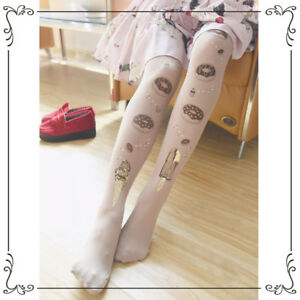 fdb22b2c7 Image is loading Japanese-Sweetheart-Lolita-Mori-Girl-Stockings-Panty-hose-