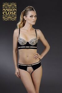 Details about Maison Close LA CAVALIERE Soutien-gorge Push-Up Bra,  Black/Sand Rose - NWT Sexy