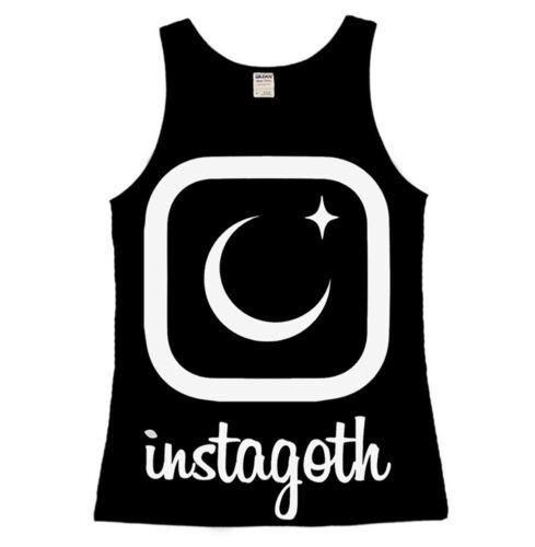 Luna Cult Instagoth Ladies Vest Top Gothic Goth Selfie Moon Star occult