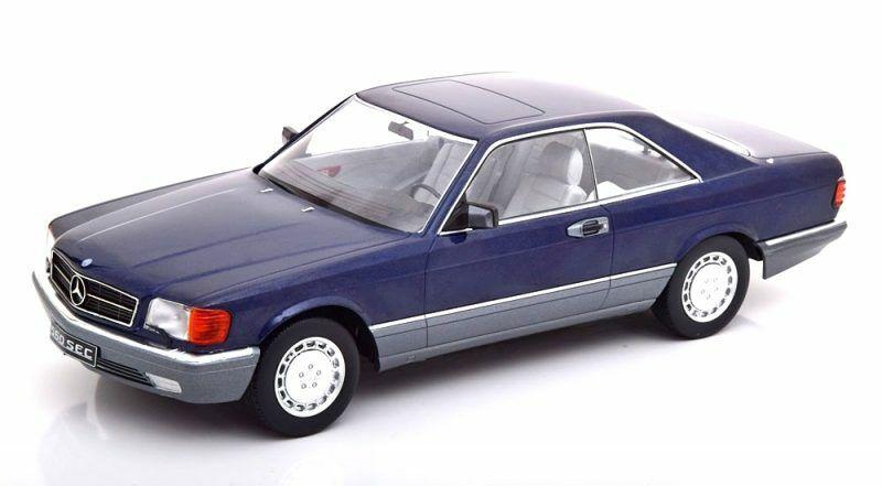 Mercedes Benz 560 Sec C126 blu Metallic 1980 1 18 Model KK SCALE