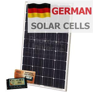 100 w 12 v dual batterie panneau solaire kit pour camper. Black Bedroom Furniture Sets. Home Design Ideas