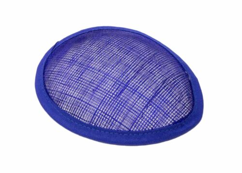 Blue Sinamay Teardrop Fascinator Hat Base Available in 16 Colors