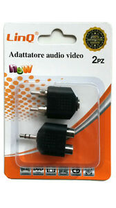 PACK-2-ADAPTADORES-ADAPTADOR-CONECTOR-RCA-MACHO-A-2-RCA-HEMBRA-JACK-3-5-MM-AV-23