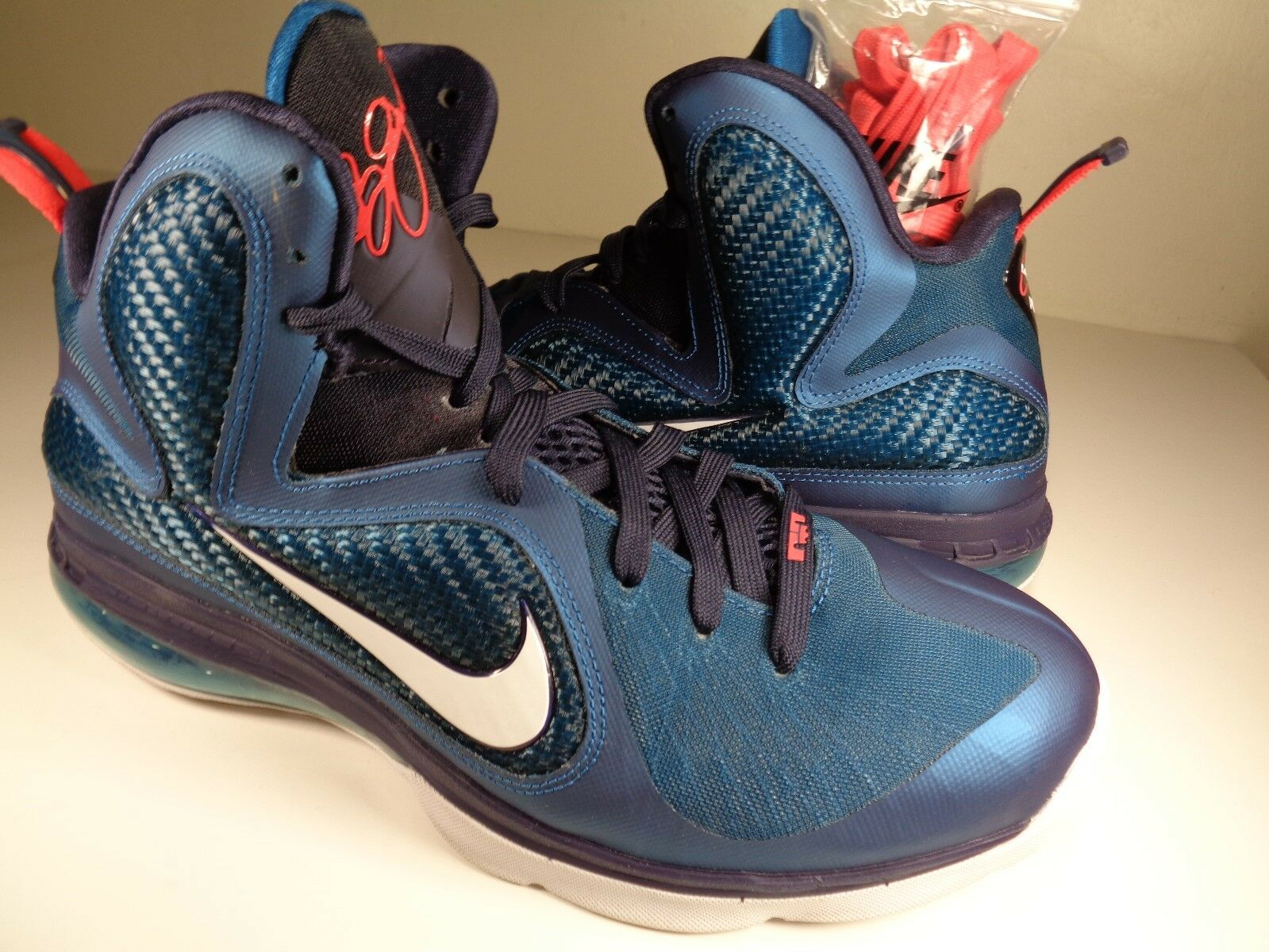 Nike Lebron 9 Swingman Griffey Green Abyss White Blue Price reduction The most popular shoes for men and women