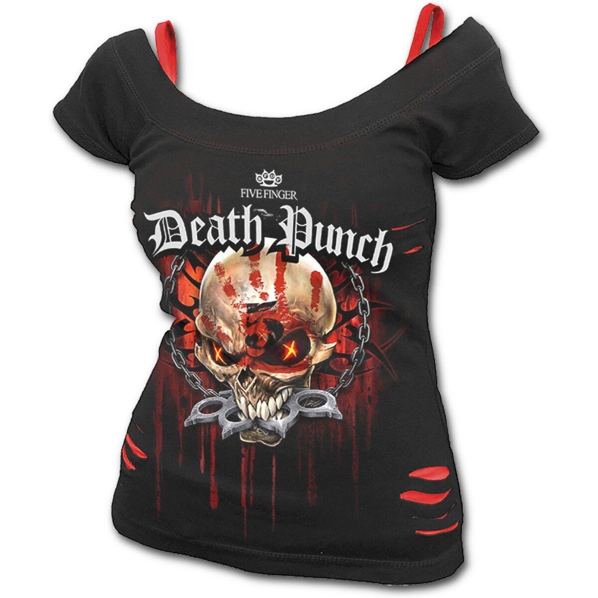 Spiral Direct 5FDP - ASSASSIN - Licensed Band 2in1 Top Five Finger Death Punch